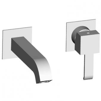 Lavabo quadri mural 2 trous chrome***