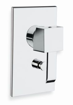 Douche quadri encastree 2 sorties sans mecanisme chrome
