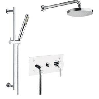 Robinets bains et douche, douche triverde encastree 2 sorties avec mecanisme ac45400 chrome***