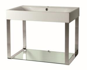 Lavabo cento avec tablette verre VASQUES - CEX7045