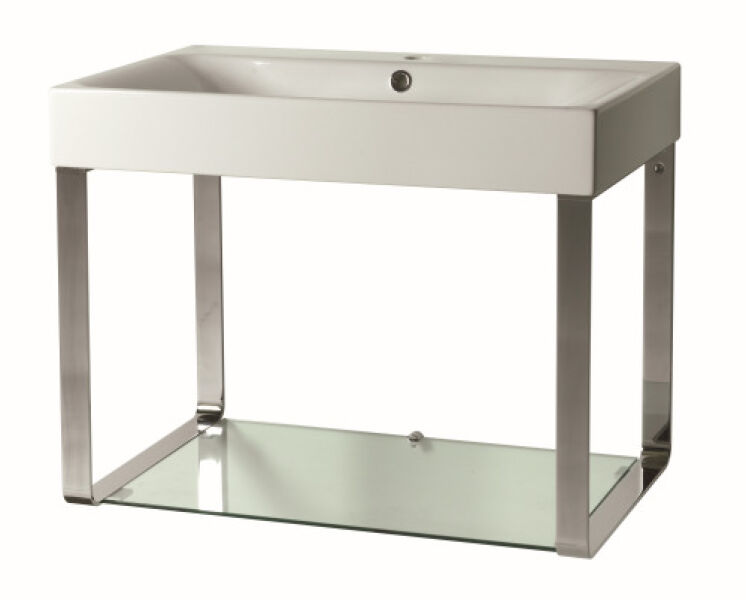 lavabo cento avec tablette verre cento achat vente ondyna cex7045. Black Bedroom Furniture Sets. Home Design Ideas