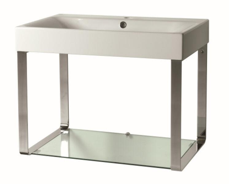 meubles lavabo cento avec tablette verre 70 45 58 cm achat vente ondyna cex7045. Black Bedroom Furniture Sets. Home Design Ideas