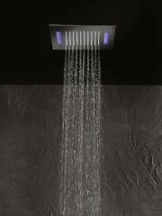 Ciel de pluie plafond chrometherapie carre 30 cm HYDROTHERAPIE - TT30251