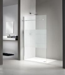 Paroi laterale avec profile 900 libero 4000 droite + porte serviette PAROIS DE DOUCHE - PE6PSFR900A10SHL