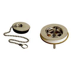 """Bonde d'evier a chainette 1""""1/2 laiton metal brosse VIDAGES - PD00477"""