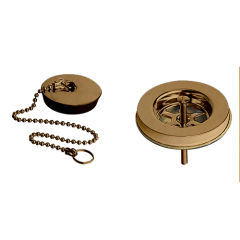 "Bonde d'evier a chainette 1""1/2 laiton or rose brosse VIDAGES - PD00434"