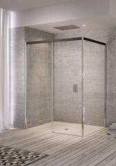 Portes coulissantes 2 elements 1400 acqua r 5000 gauche serig. noire PAROIS DE DOUCHE - QTW2L1400CSHAQB10