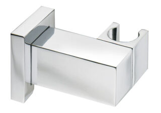 Support douchette mural quadri articule laiton chrome