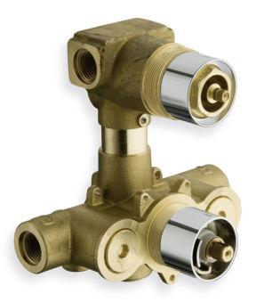 Mecanisme encastre thermostatique 2 sorties chrome/pd80000 corps encastres - PD71351