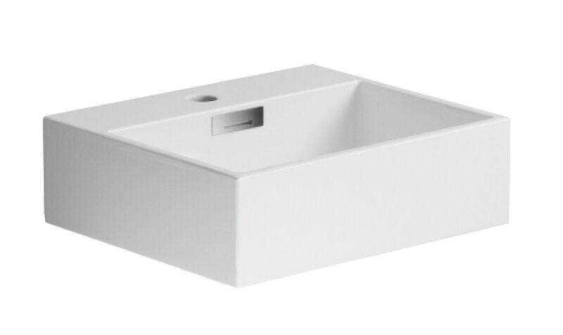 710d9e35ee116e Lavabo ceramique quarelo a poser ou mural l42xp36xh13 cm blanc ...