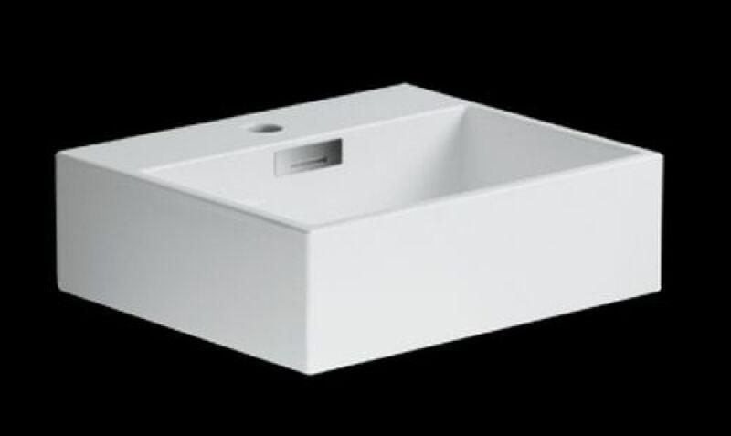 Lavabo ceramique quarelo ss percage robinet l42xp36xh13 cm blanc achat ven - Lavabo ceramique blanc ...