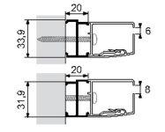 Profil de compensation pour verre 8 mm - 05x150 PAROIS DE DOUCHE - PQ05150CSH