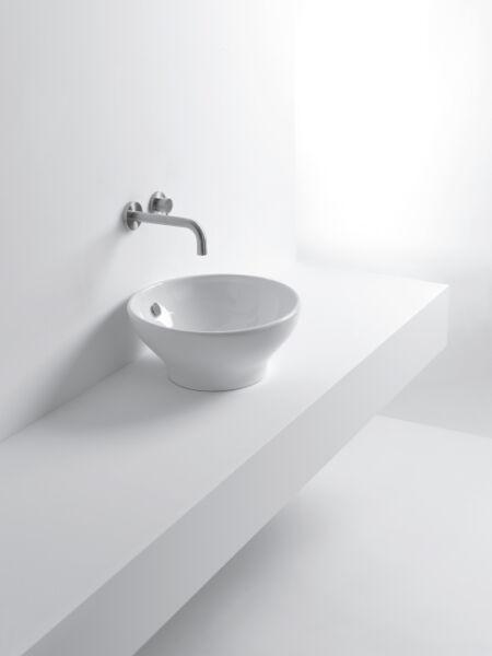 Lavabo ceramique cup l42xp42xh19 cm blanc brillant achat vente ondyna wcu4209 - Lavabo ceramique blanc ...