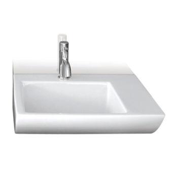 Lavabo ceramique om wall l50xp41,5xh16 cm blanc brillant