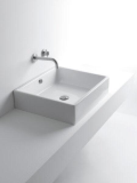 Lavabo ceramique tank l60xp52xh15 cm blanc brillant achat vente ondyna wta6009 - Lavabo ceramique blanc ...