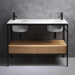 Double tiroir en bois chene clair 120 cm VASQUES - SKYTIR120