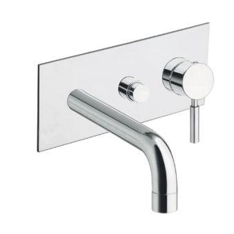 Robinets bains et douche, bain douche mural triverde sans mecanisme chrome*/tv10851 + pd13751